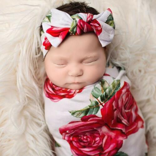 US Jersey Infant Swaddle Headband Wrap