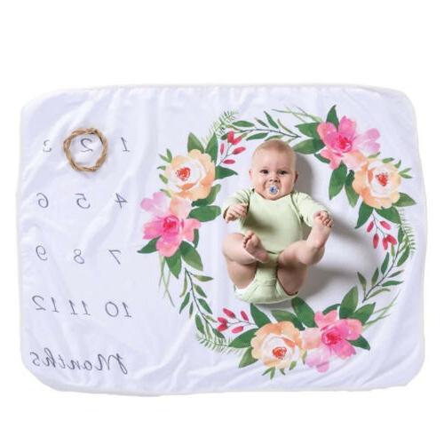 US Newborn Boy Blanket Milestone Photography