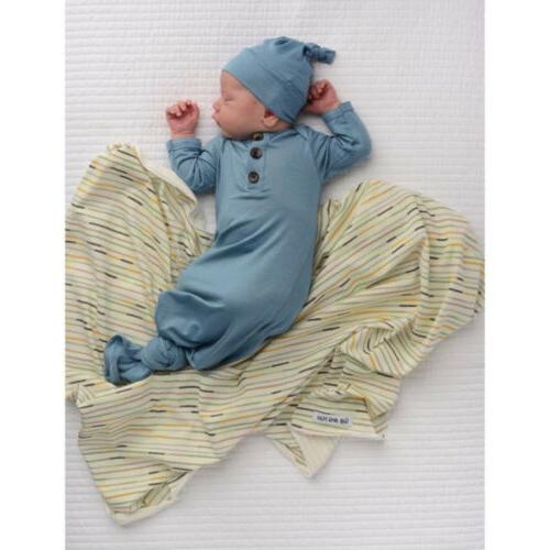 US Blanket Sleeping Swaddle Wrap+Headband/Hat Set
