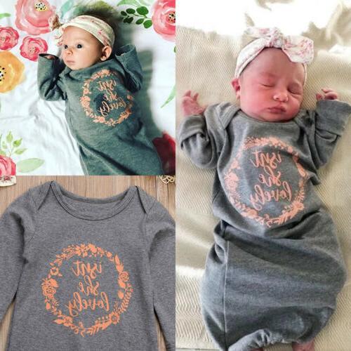 US Cotton Newborn Baby Girl Snuggle Sleeping Bag Wrap 2Pcs