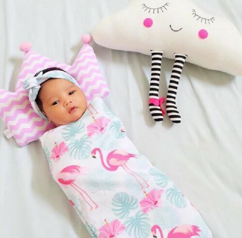 US Newborn Baby Flamingo Wrap