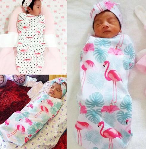 US Baby Flamingo Wrap Sleeping Bag