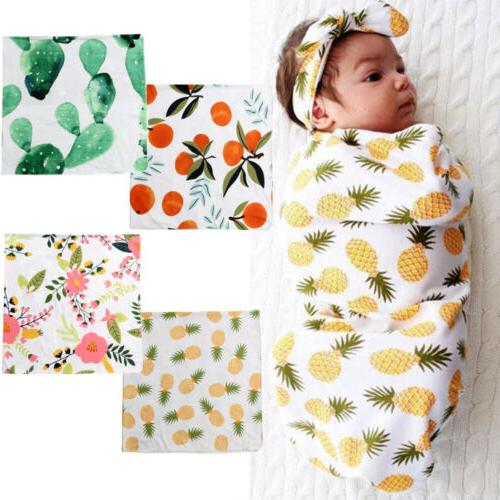 Organic Cotton Swaddle Muslin Blanket Newborn Baby Wrap Swad