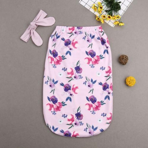 USA Newborn Kid Flower Swaddle Blanket