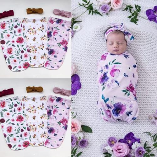 USA Newborn Infant Baby Kid Winter Soft Swaddle Blanket Set