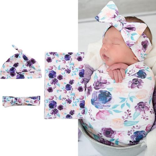 USA Soft Baby Wrap Floral Towel 80*65cm