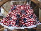 USA Western Style Twirl Skirt Sz 2 Red/White/Blue 100% Cotto