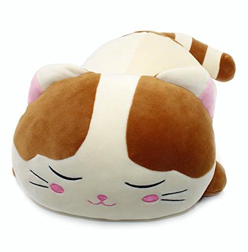 Vintoys Soft Big Pillow Plush Kitten Brown