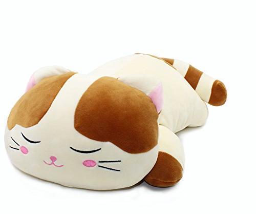 Vintoys Cat Big Pillow Kitten Stuffed Brown