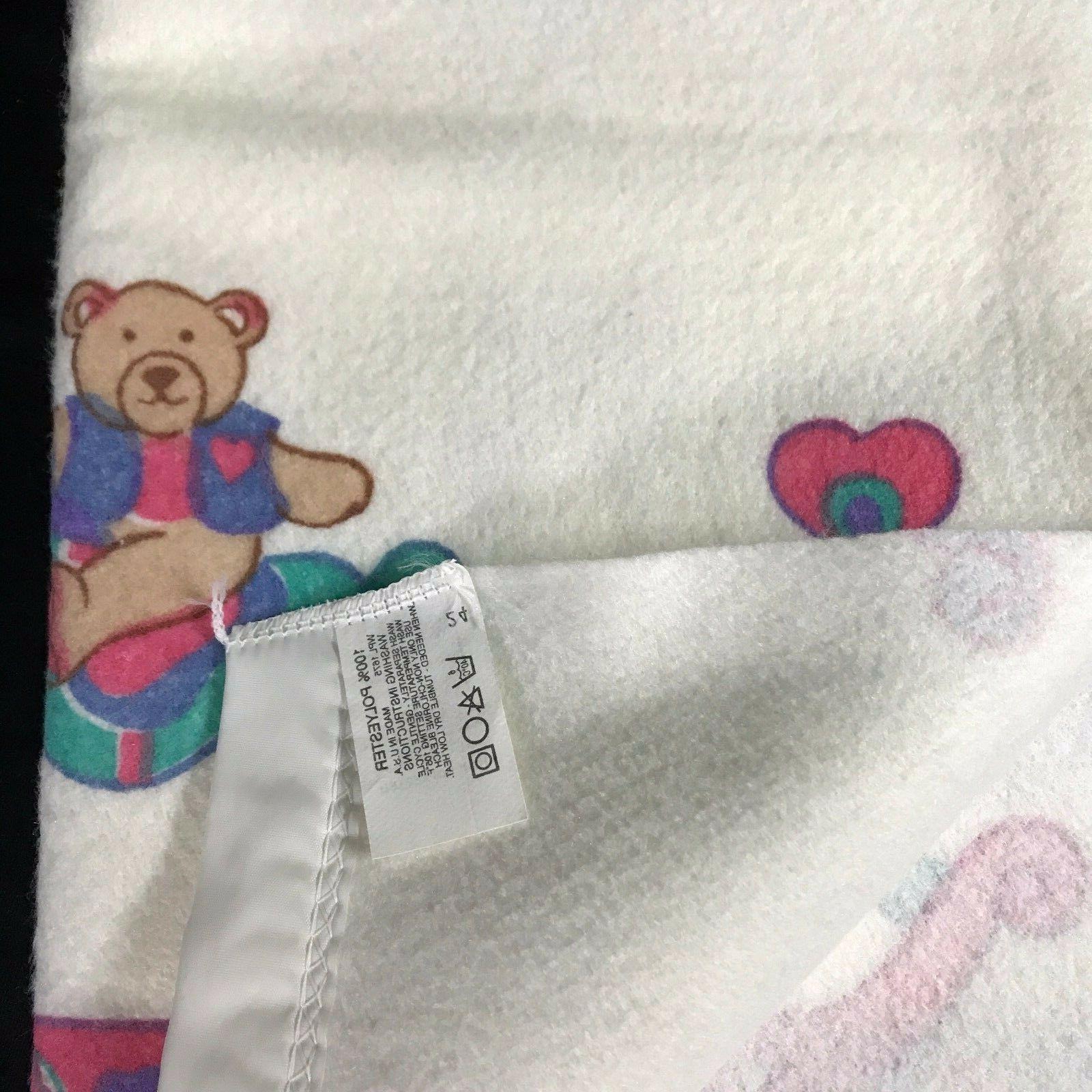 Vintage Baby Rocking Bows Hearts Polyester x New no Tag