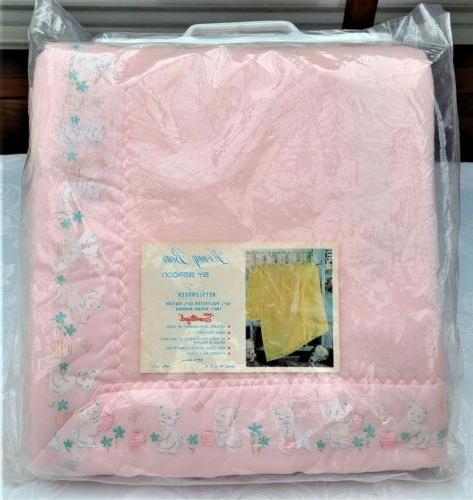 vintage baby blanket usa 36 x 50