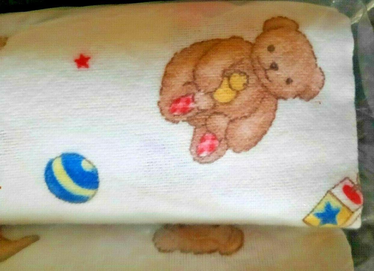 Vintage Flannel Baby Blanket Bears & Bunnies Pack Made in NIP