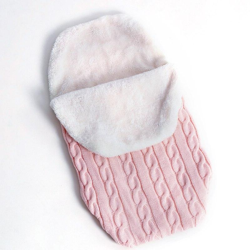 Warm <font><b>Baby</b></font> <font><b>Baby</b></font> Sleeping Bag Footmuff Cotton <font><b>Knitting</b></font> Swaddle Wrap Stroller Accessories