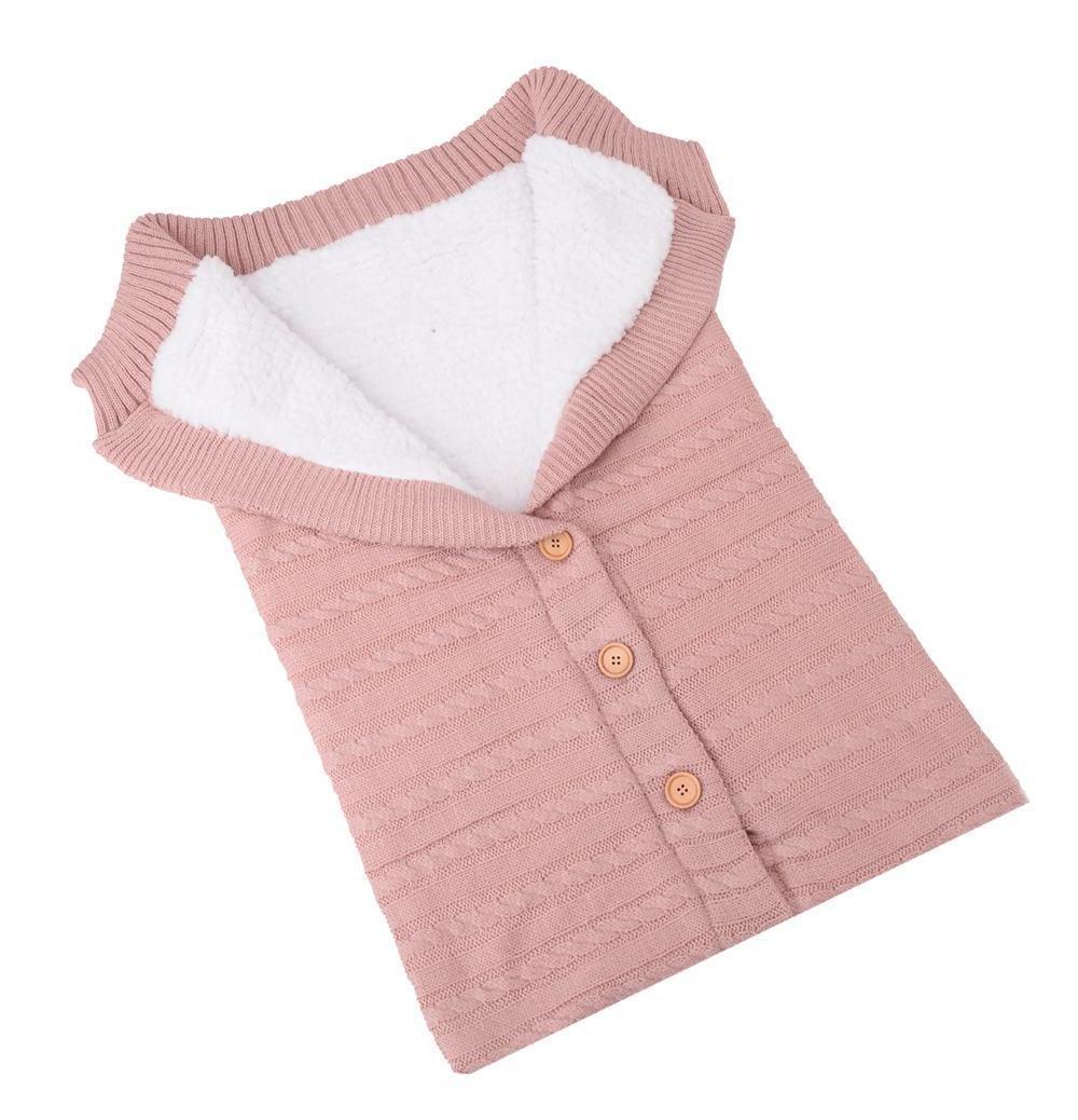 Warm <font><b>Baby</b></font> Sleeping Bag Cotton <font><b>Knitting</b></font> Envelope Swadding Wrap Stroller Sleepsacks
