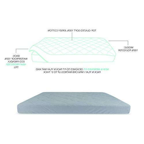 Waterproof Cotton Quilted n Sheet New Revised Added Heat in one Mattress Cover and Co