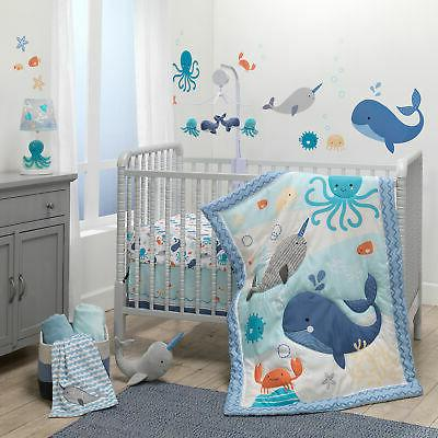 Bedtime Originals Whales Tales 3-Piece Blue Ocean/Nautical B