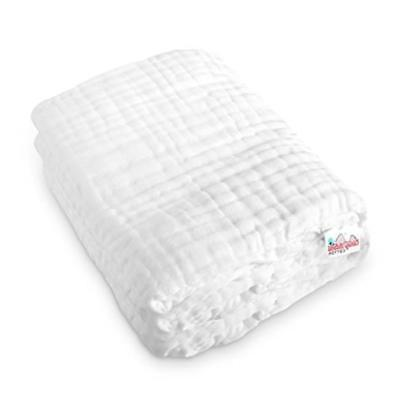 Coney Island Cotton White Muslin 6 Layer Multi Use Blanket O