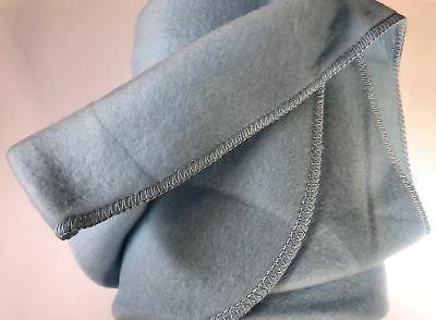 """WINNIE Baby Blanket Throw Fleece Embroidered 36""""x48"""" Blue"""