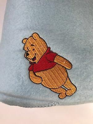 "WINNIE POOH Baby Cozy Blanket Fleece Embroidered 36""x48"" Blue NEW"
