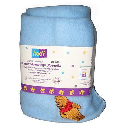 "WINNIE Baby Cozy Blanket Fleece Embroidered 36""x48"" NEW"