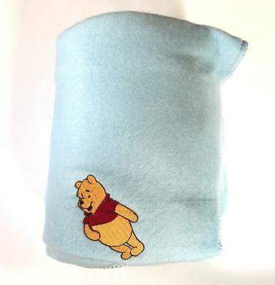 """WINNIE Baby Cozy Blanket Throw Fleece 36""""x48"""" Blue"""