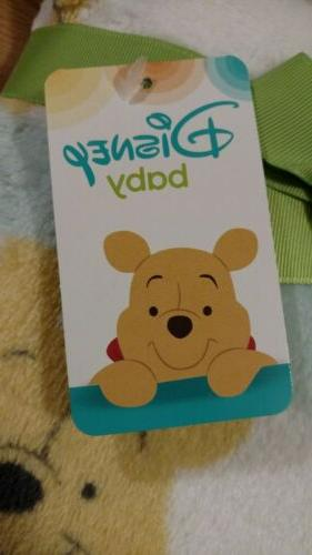 Disney Winnie Pooh Baby Blanket Infant Boys NEW