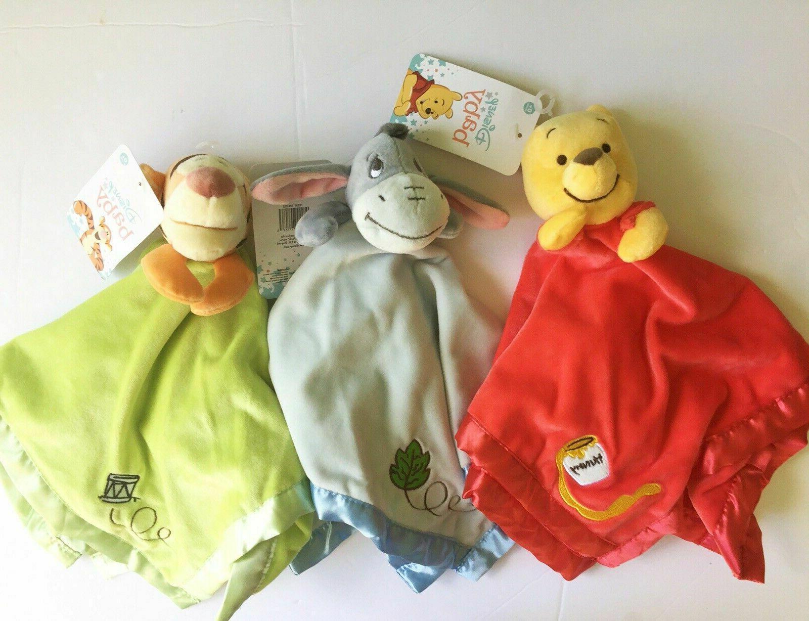 Disney Pooh Blanket Eeyore Tigger Soft