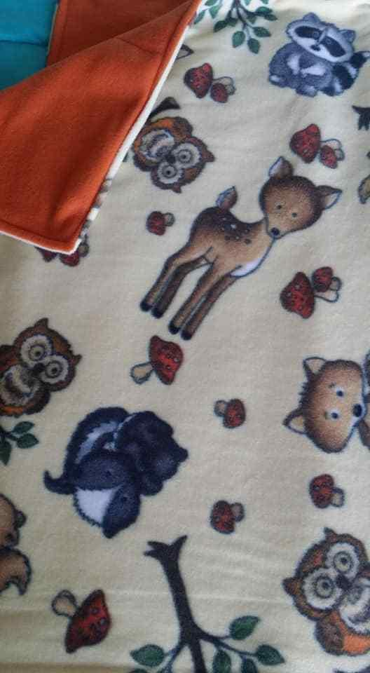 Woodland Fleece Baby Blanket