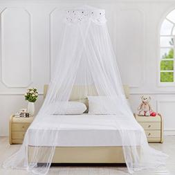 KHGDNor Lace Flower Embroidered Bed Canopy for Kids Mosquito