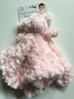 Blankets and Beyond Lamb Security Blanket Lamb Pink Rosette