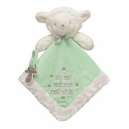 Baby Starters Lamb Snuggle Buddy with Paci Holder, White/Gre
