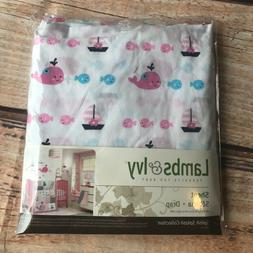 Lambs & Ivy nautical fitted crib sheet splish splash collect