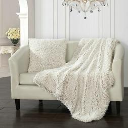 Chic Home Lambs Hill Throw Blanket 2 Piece Set Faux Fur Thro