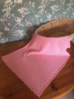 Large 100% Pure Linen Baby blanket. col. Blossom Pink