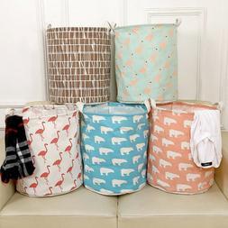 Large Laundry Hamper Bag Home Clothes Storage Canvas Barrel