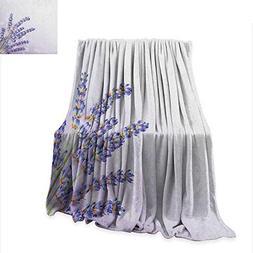 Lavender Digital Printing Blanket Little Posy of Medicinal H