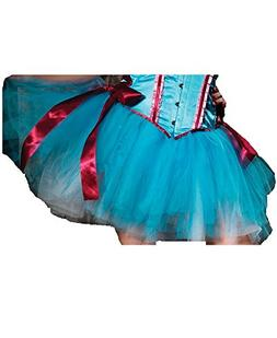 Leg Avenue Layered Duel Color Petticoat Skirt, One Size, Tur