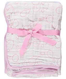 """Hudson Baby """"Circle Medley"""" Layered Muslin Blanket - pink, o"""