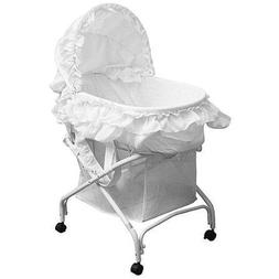 The Best Dream on Me Layla 2-in-1 Bassinet to Cradle, White