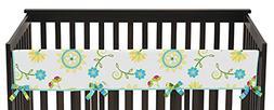 Sweet Jojo Designs Layla Floral Long Front Rail Guard Baby T