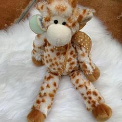 "Plush Stuffed Animal Toy 14/"" Bearington Lean Beans Stretch Long Legged Giraffe"
