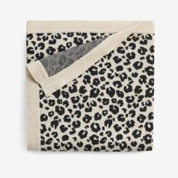 Elegant Baby Leopard Print Cotton Knit Baby Blanket - BNWT U