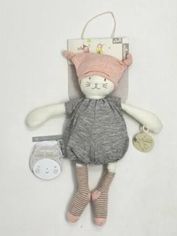 Moulin Roty Les Petits Dodos Moon Cat Kitty Baby Toy Lovey L