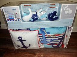 Just Born Let's Sail 5 Pc Baby Crib Bedding Nursery Musical