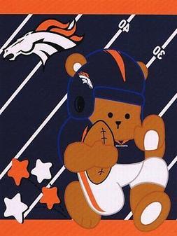 Licensed NFL Denver Broncos Football Baby Soft Royal Plush B