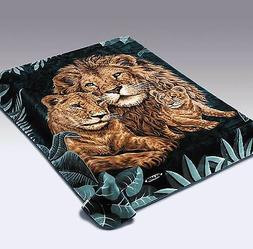 Licensed Solaron Lions Korean Thick Mink Soft Plush King Siz