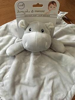 Blankets & Beyond- Light Gray Hippo Nunu Security Blanket