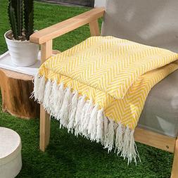 HollyHOME Oversized Herringbone Throw Blanket 50x60 Inches M