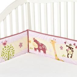 Bedtime Originals Lil' Friends 4 Piece Bumper, Lavender/Pink