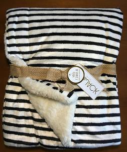Lila & Jack Baby Blanket Reversible MicroMink Fabric Black/W